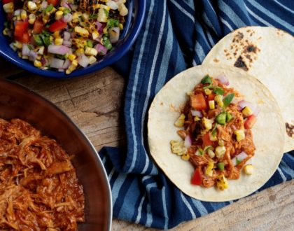 BBQ Chicken Tacos With Grilled Corn Salsa