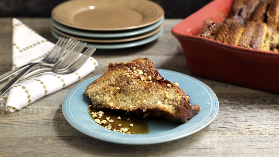 Peanut Butter and Jelly French Toast Casserole
