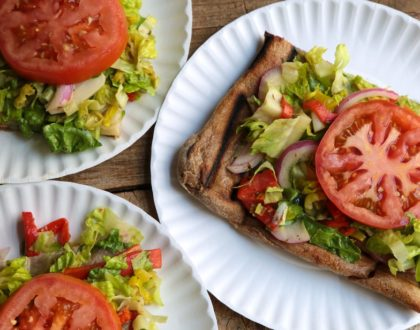 Grilled Salad Pizza