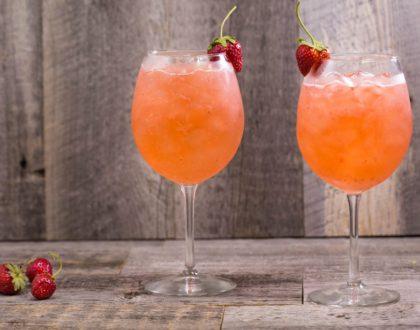 Strawberry Rosé Spritz