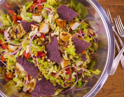 Smoky Chicken Chopped Taco Salad