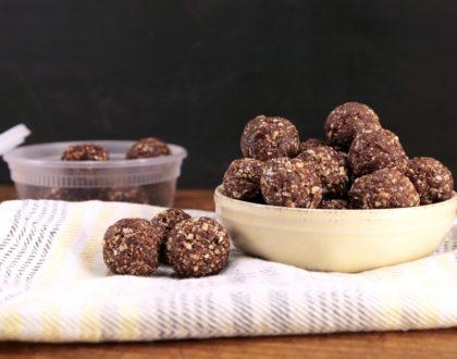 Chocolate-Almond Protein Bites