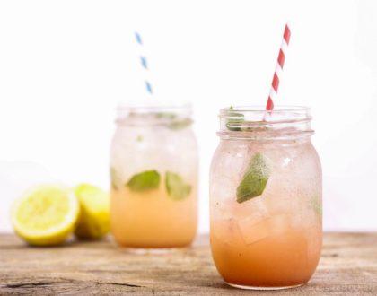 Sparkling Strawberry-Basil Vodka Lemonade