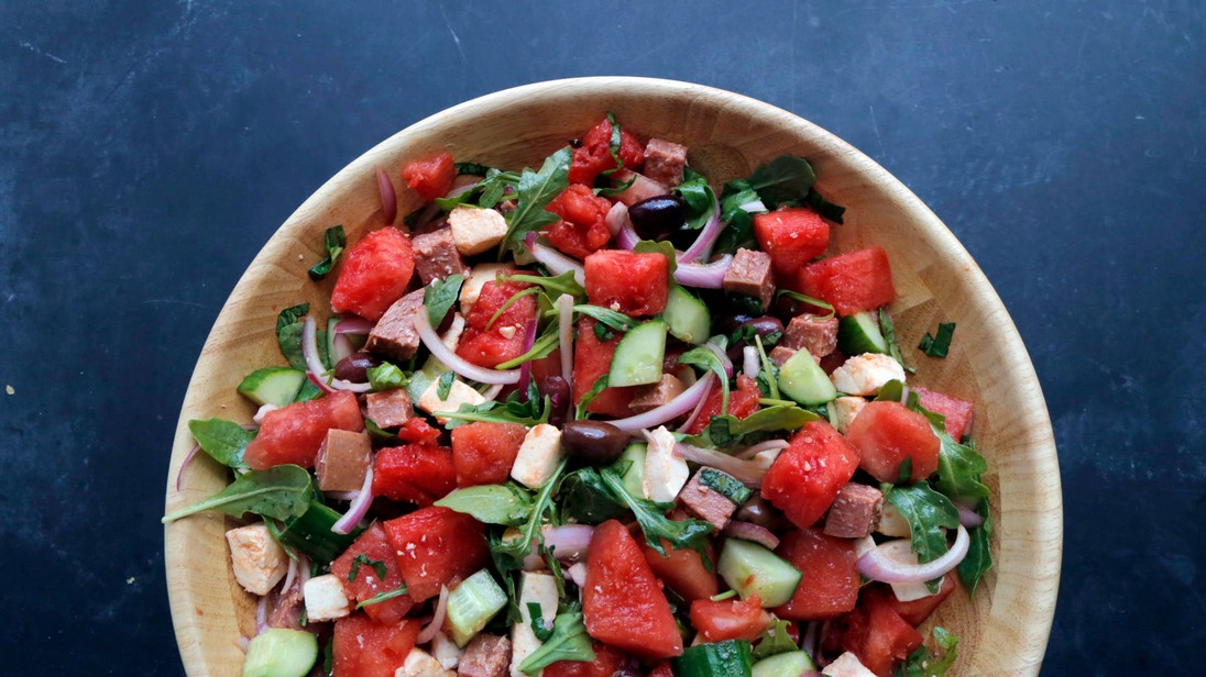 Watermelon Antipasto Salad