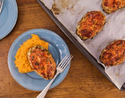 Turkey Mini Meatloaves with Mashed Sweet Potatoes
