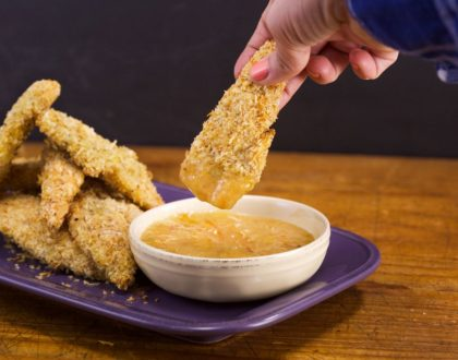 Baked Coconut Chicken Tenders with Spicy Orange Dipping Sauce