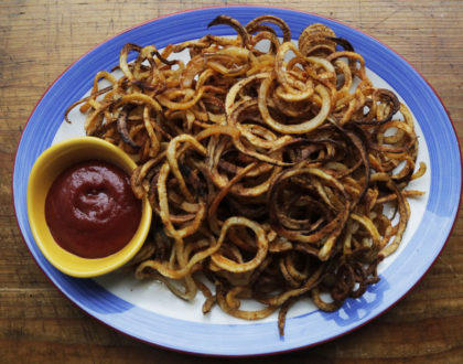 Spicy Baked Curly Fries