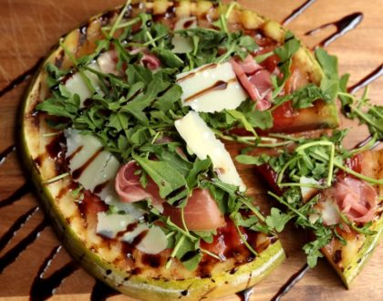 Italian-Style Grilled Watermelon Pizza