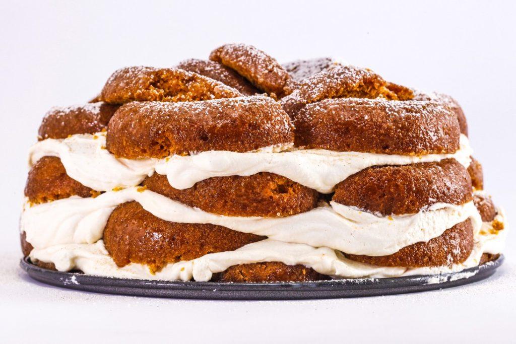 Pumpkin Donut Icebox Cake