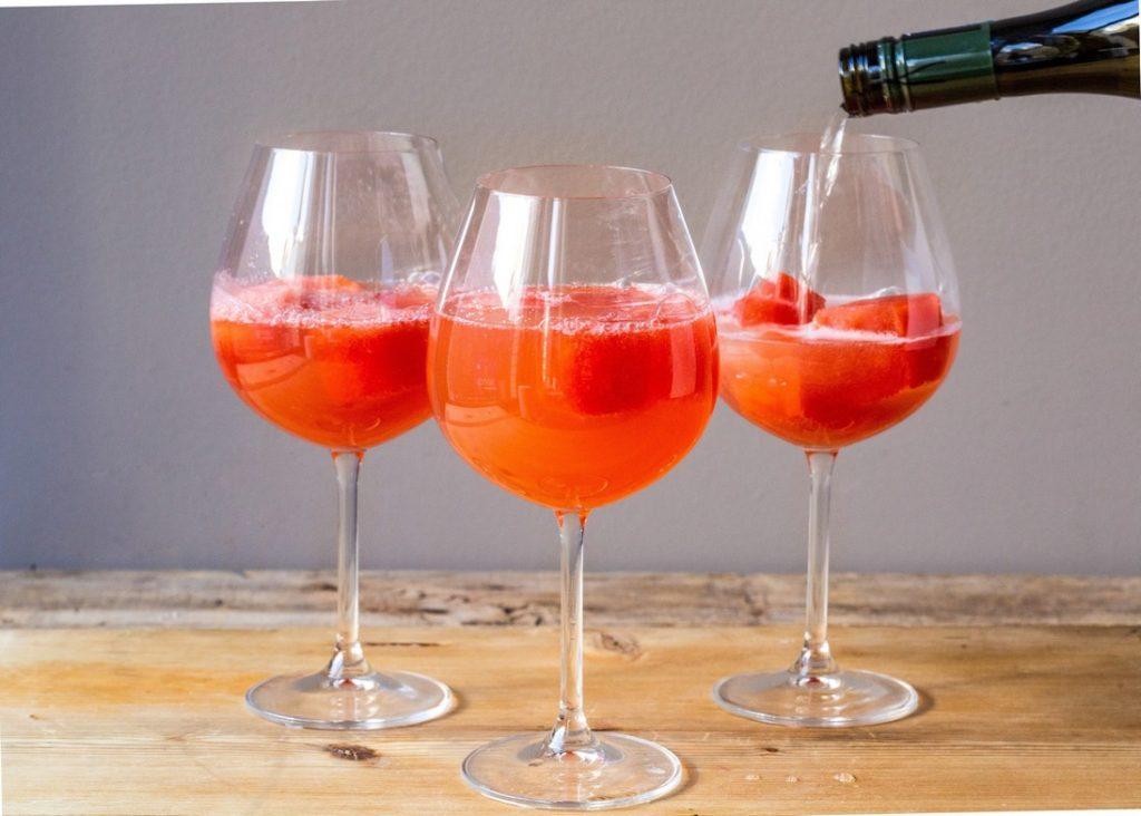 Watermelon Aperol Spritz Cocktail
